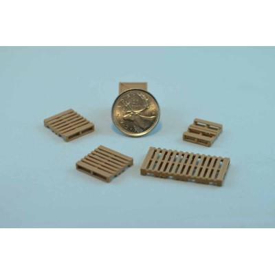 "Wooden pallets 1/64 (""S""  Gauge)"